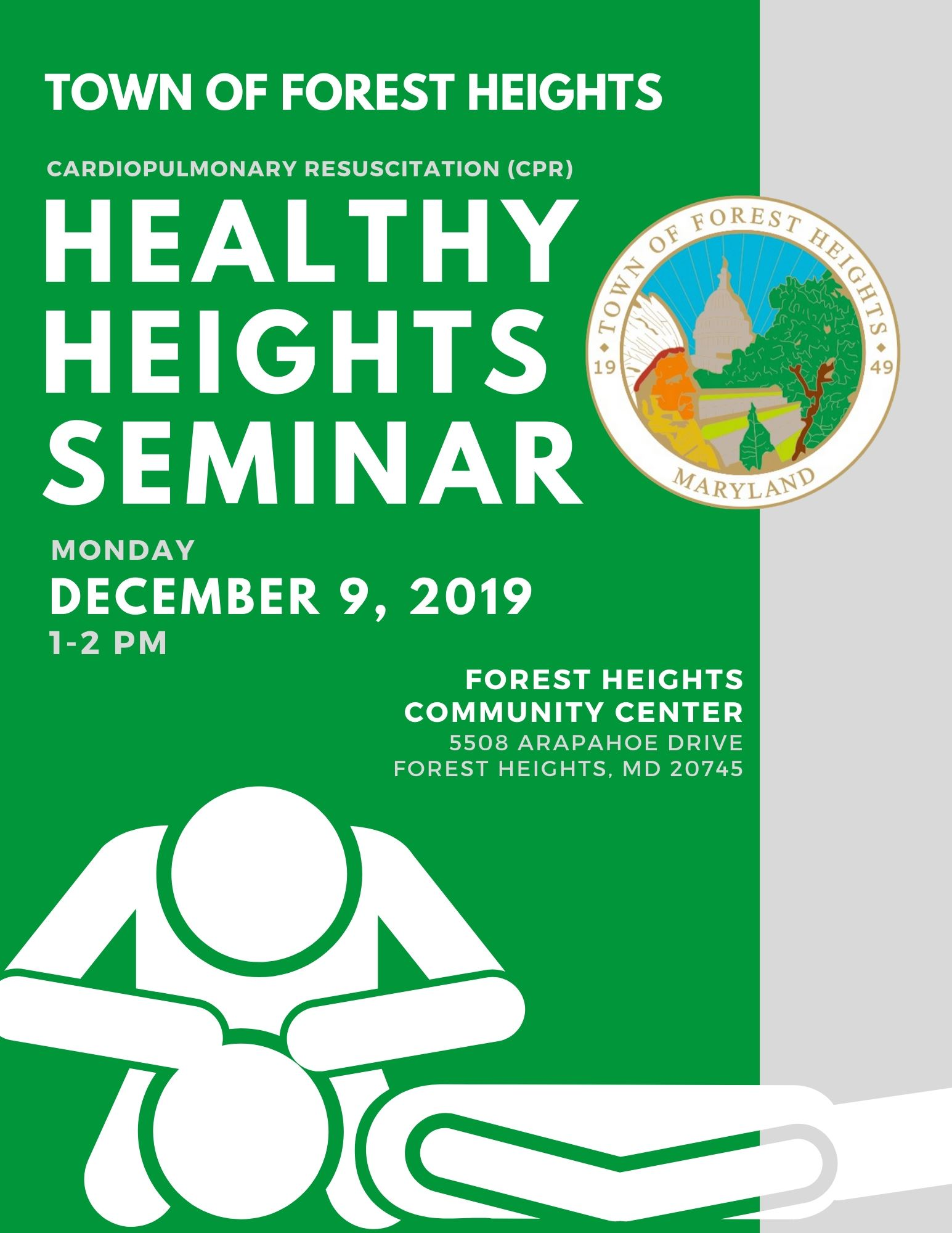 Town of Forest Heights Healthy Heights Seminar