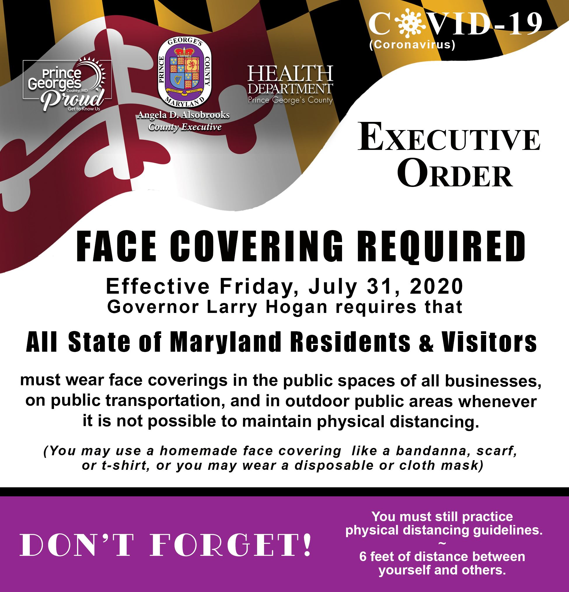 Gov Hogan Mask Order July 31 English