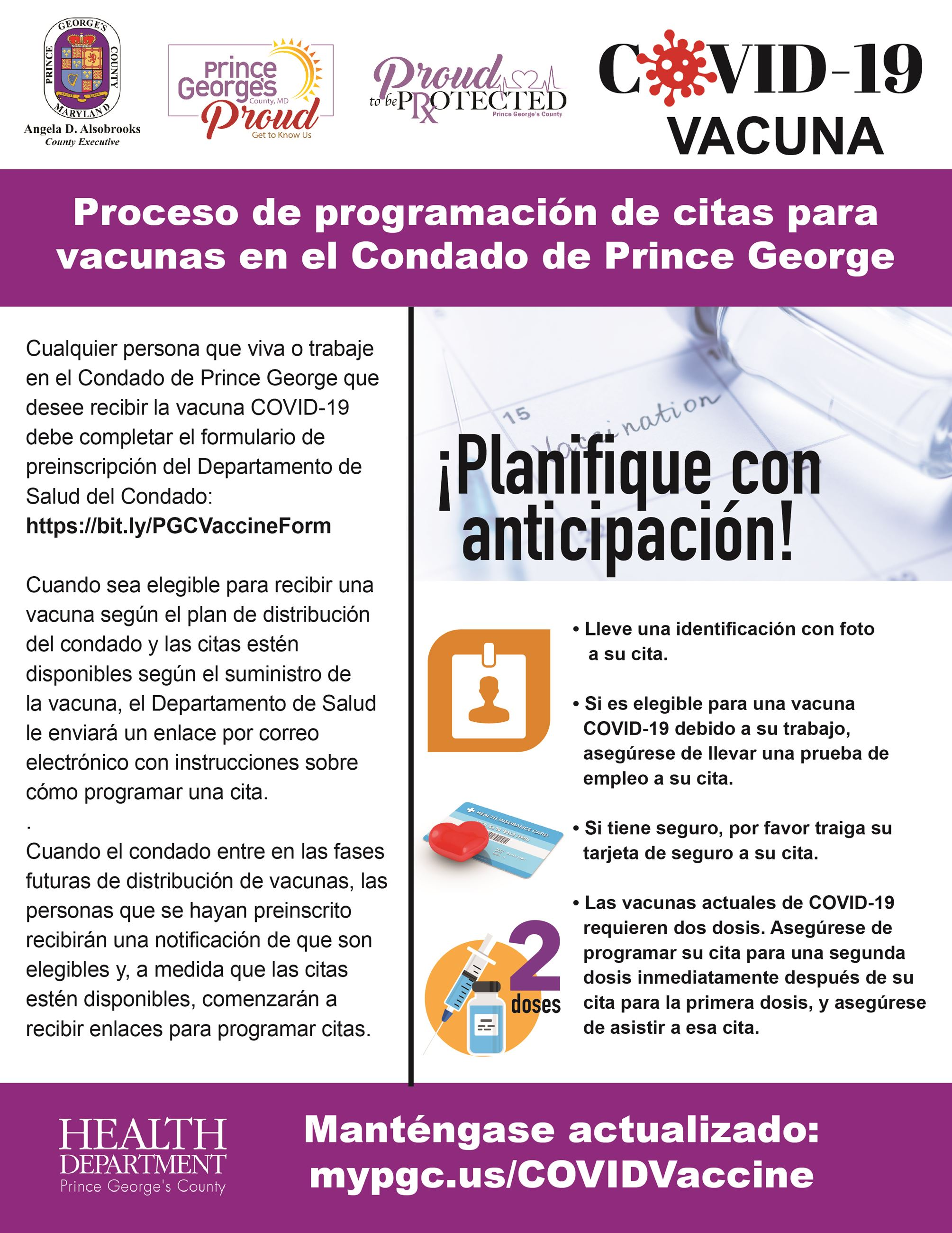 Vaccine Scheduling Process Spanish